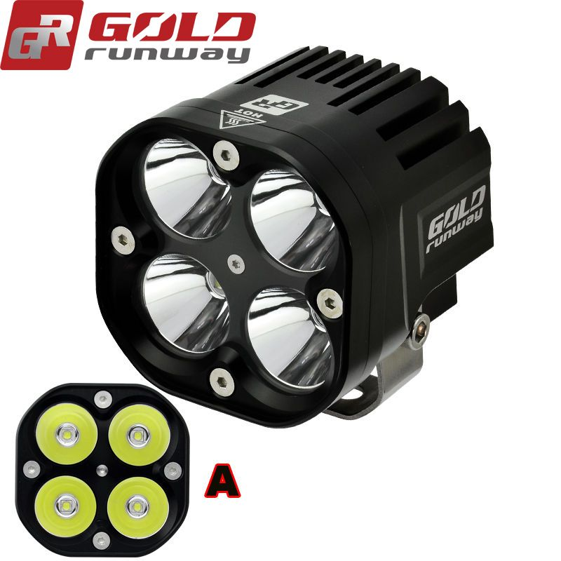 2pcs 40W Bright U3 LED Driving Work Spot Light for Harley Honda Yamaha Kawasaki Suzuki Cruiser dual sport ATV Custom