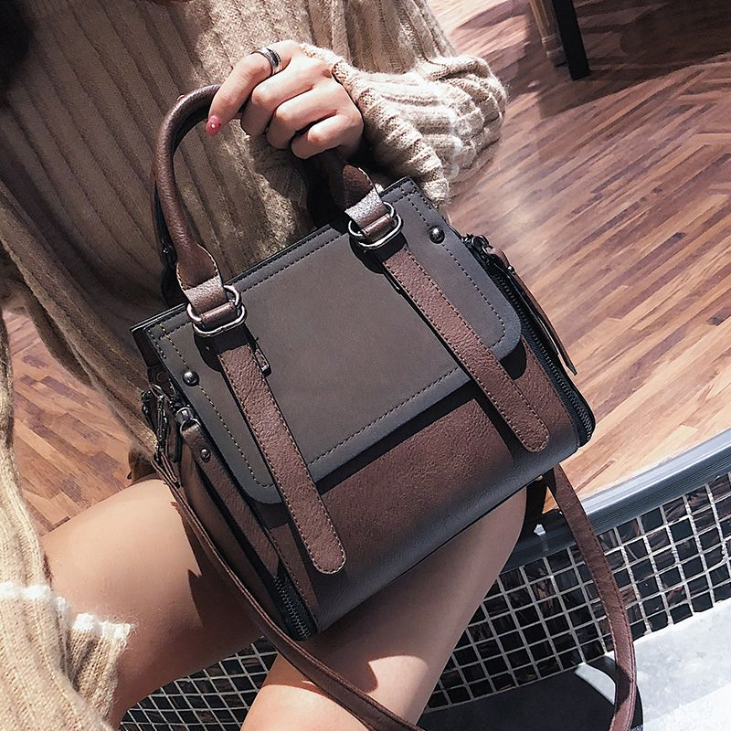 LEFTSIDE Vintage New Handbags For Women 2018 Female Brand Leather Handbag High Quality Small Bags Lady Shoulder Bags Casual