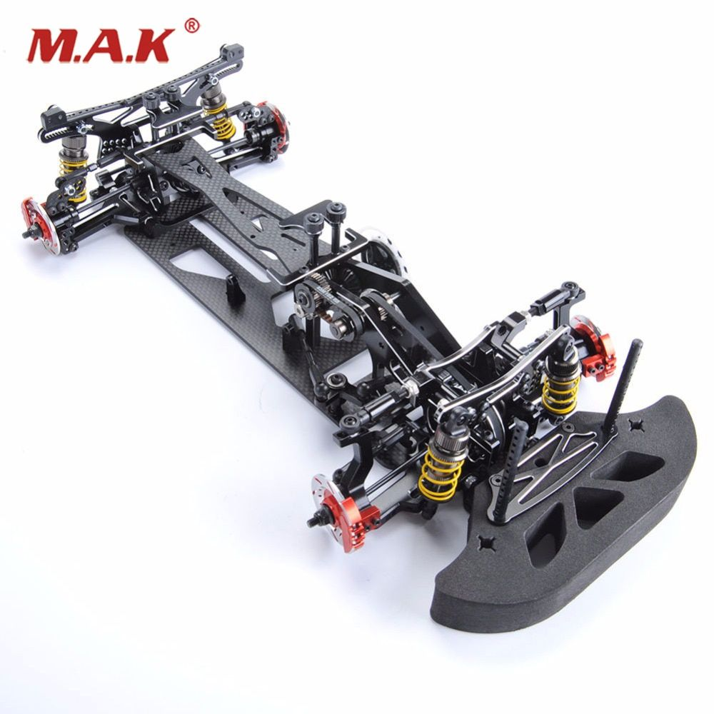 1/10 Alloy & Carbon Fiber 078055B G4 1/10 4WD Drift RC Racing Car Frame Body Kit RC Control Car Black