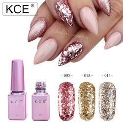 KCE Professional Diamond Glitter UV Nail Gel Polish 6ml Soak Off Sequins Gel Long-lasting Bling Nail Varnish Manicure Art Tools