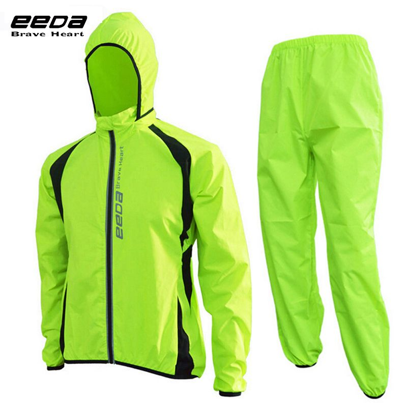 EEDABROS Handsome Cycling Jacket Bicycle Pants Outdoor Long Sleeves Windcoat Road MTB Breathable Jerseys Cycling Jackets Set Men