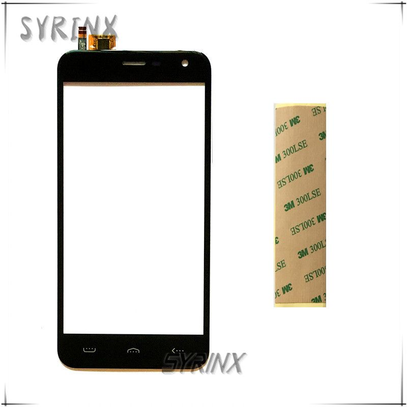Syrinx Avec Autocollant Moible Téléphone Tactile Panneau Pour Homtom HT3 HT3 PRO Écran Tactile Digitizer Avant Lentille En Verre Écran Tactile Capteur