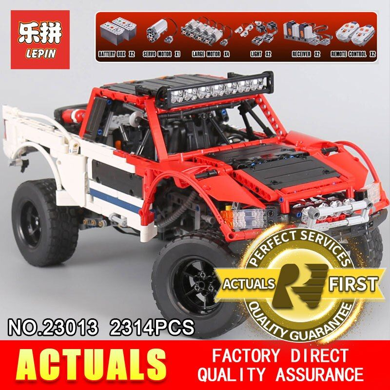 Lepin 23013 Genuine Technic MOC Series SUV car Pickup truck bricks model building kits blocks toys for boys Christmas gift