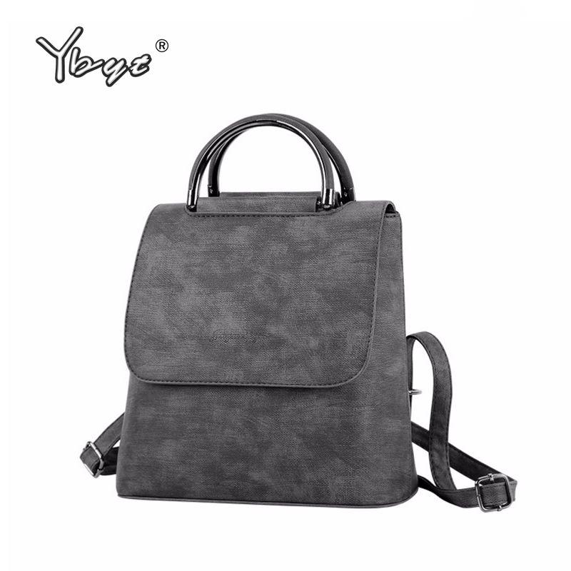 YBYT marque 2018 nouveau PU cuir femmes sac à dos polyvalent sacoche femme shopping sacs à bandoulière dames décontracté voyage sacs à dos
