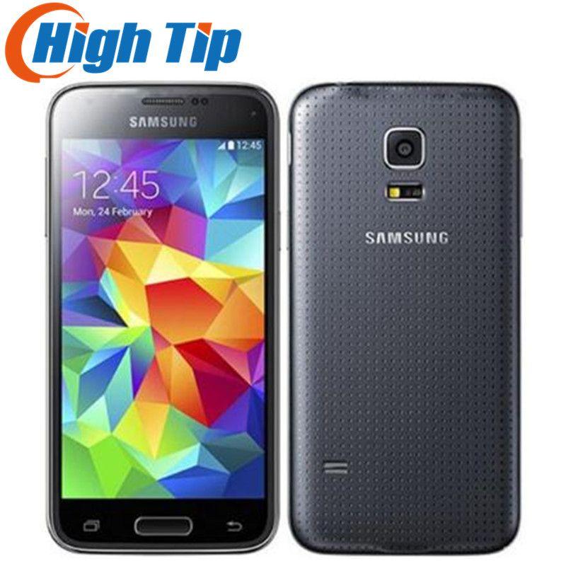 Original Unlocked Samsung Galaxy S5 mini G800F Mobile phone 4.5 Android Quad Core 1.5 RAM 16GB ROM 8.0MP Refurbished