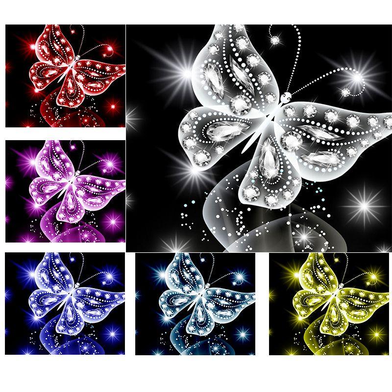 Volledige vierkante / ronde diamant 5D DIY Diamond Painting Animal butterfly Diamond geborduurd Diamond Mosaic Home Decor SA078