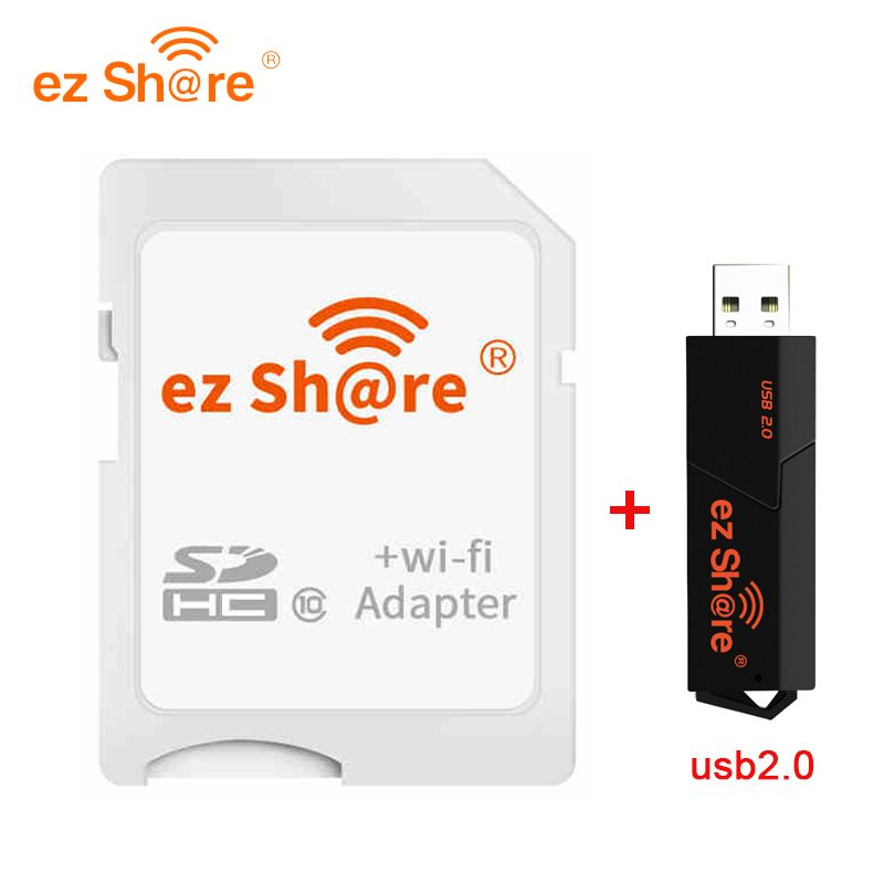 2018 Special Offer Direct Selling ez share Wifi Adapter Wifi Sd Card  and card reader can use 8g 16g 32g without micro sd card
