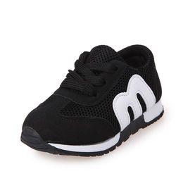 Los niños del otoño del resorte de los muchachos niños zapatillas bebé plana transpirable Deporte Zapatos de las muchachas de la manera zapatillas