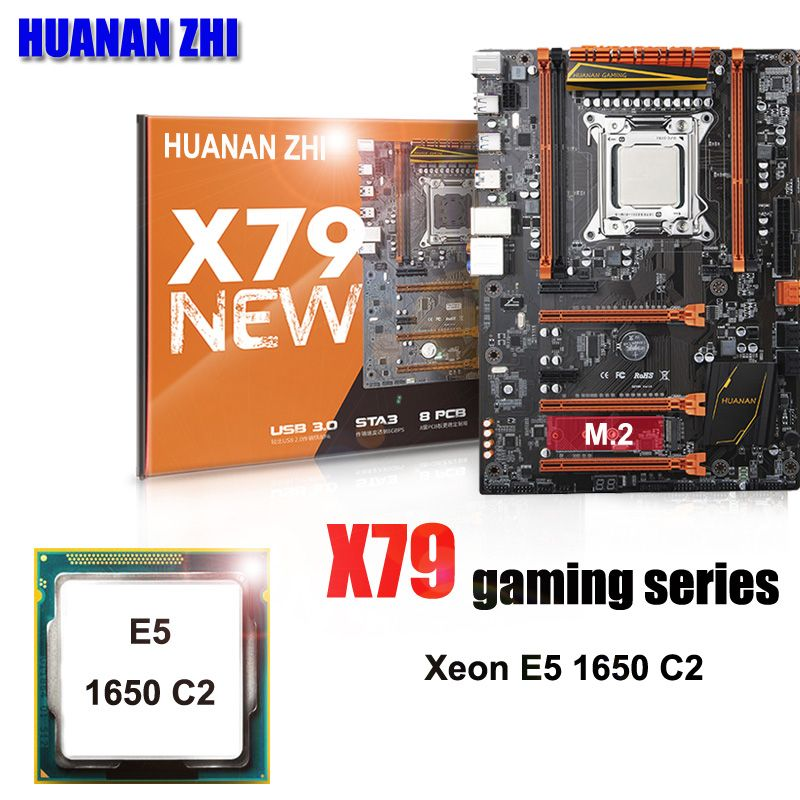 Brand HUANAN ZHI Deluxe X79 LGA2011 gaming motherboard CPU combos processor Xeon E5 1650 C2 3.2GHz all tested and packed well