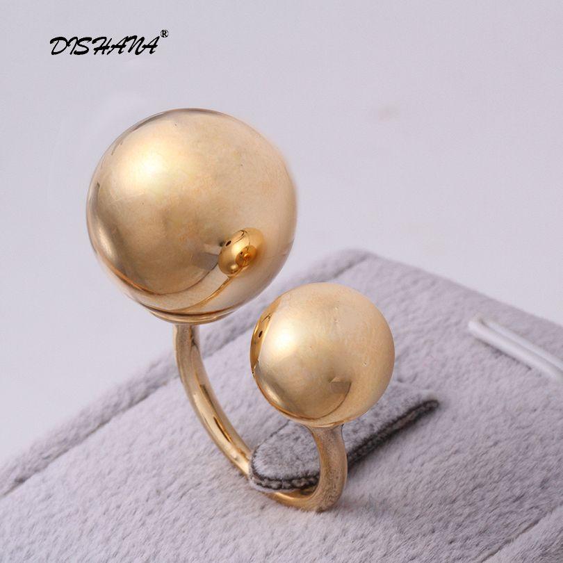 Плавающие очаровательные модные высокое качество кольцо Двухместный жемчуг кольцо милого слава камень асимметрия имитация жемчуга Jewelry ...