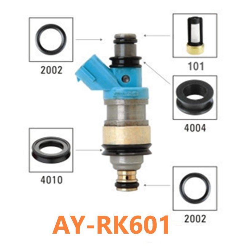 Kits de réparation d'injecteur de carburant 40 pièces/ensemble filtre d'injecteur de carburant joints en caoutchouc viton oring pour Lexus ES300 23250-62030 pour AY-RK601