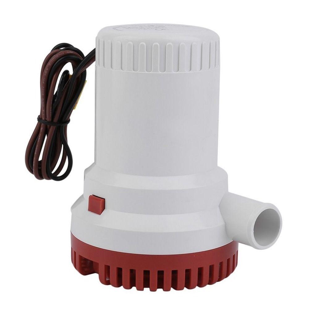 2000GPH 12V Non-automatic Corrosion-resistant Anti-Airlock Protection Submersible Marine Boat Bilge Pump Vacuum Water Pump