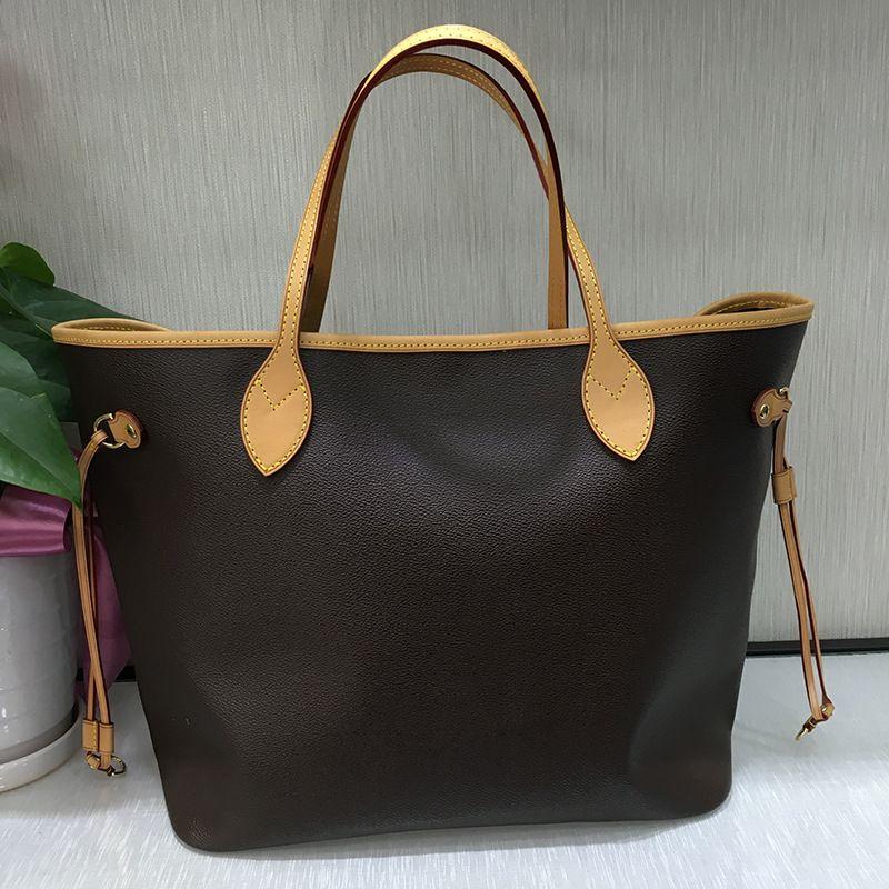 Excellent Quality Neverful Bag Women Shoulder Bag Classic Canvas Women Shopping Bag Real Leather Women Full Handbag MM/GM Size