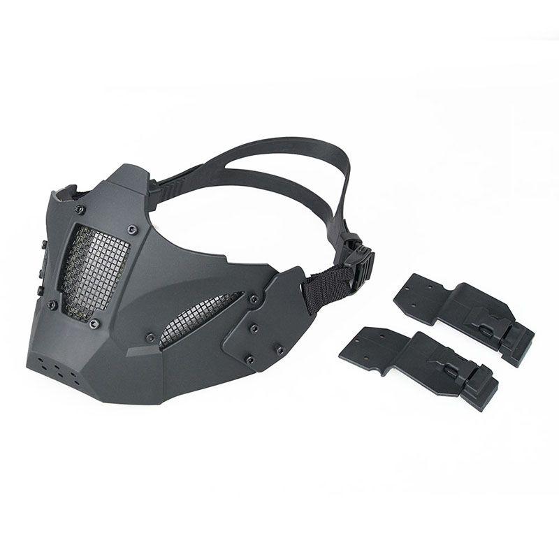 Balck Farbe Tactical Airsoft Männer Halbe Gesichtsmaske Kontakt Helm Für Outdoor Jagd Paintball HS9-0078