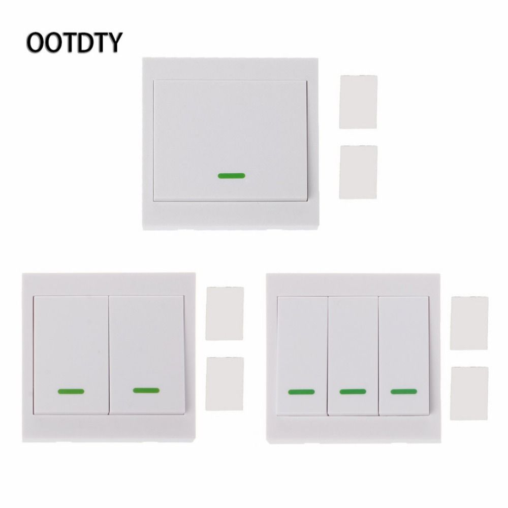433 Mhz 86 Wall Panel Remote Transmitter Sticky RF TX Hall Living Room Bedroom 433mhz Smart Home Wireless Remote Control Switch