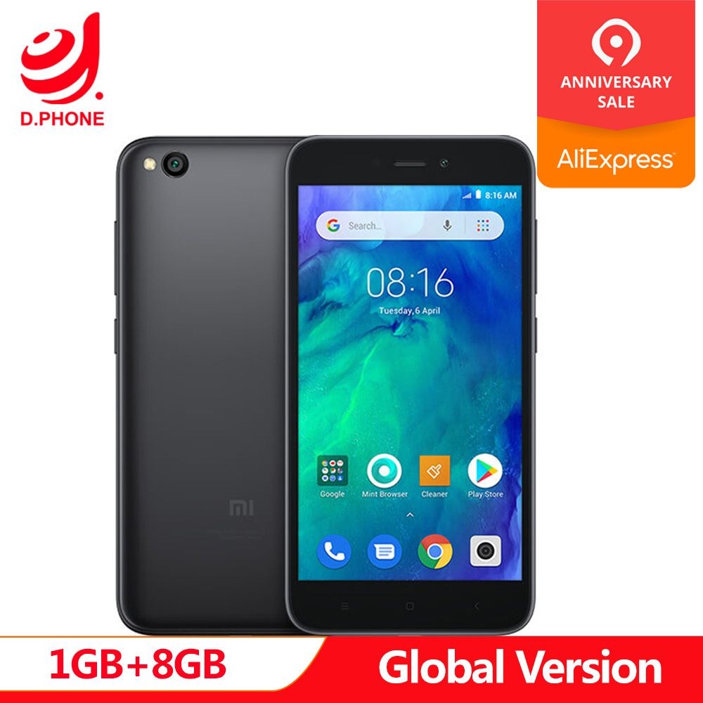 In Stock Global Version Xiaomi Redmi GO 1GB RAM 8GB ROM Snapdragon 425 Quad Core 5.0 4G LTE 8.0MP Camera 3000mAh Battery Phone