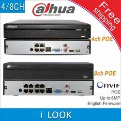Free shipping Dahua NVR2104HS-P replace NVR2104HS-P-S2 NVR2108HS-8P replace NVR2108HS-8P-S2 4/8CH Network Video Recorder POE NVR