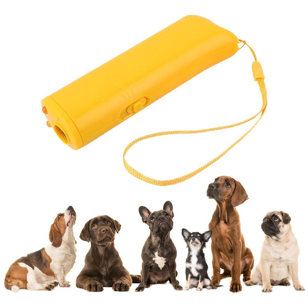 Chien répulsif Anti aboiement DogTraining dispositif Pet formateur avec éclairage ultrasons 3 en 1 Anti aboiement Pet fournitures DP/grossistes