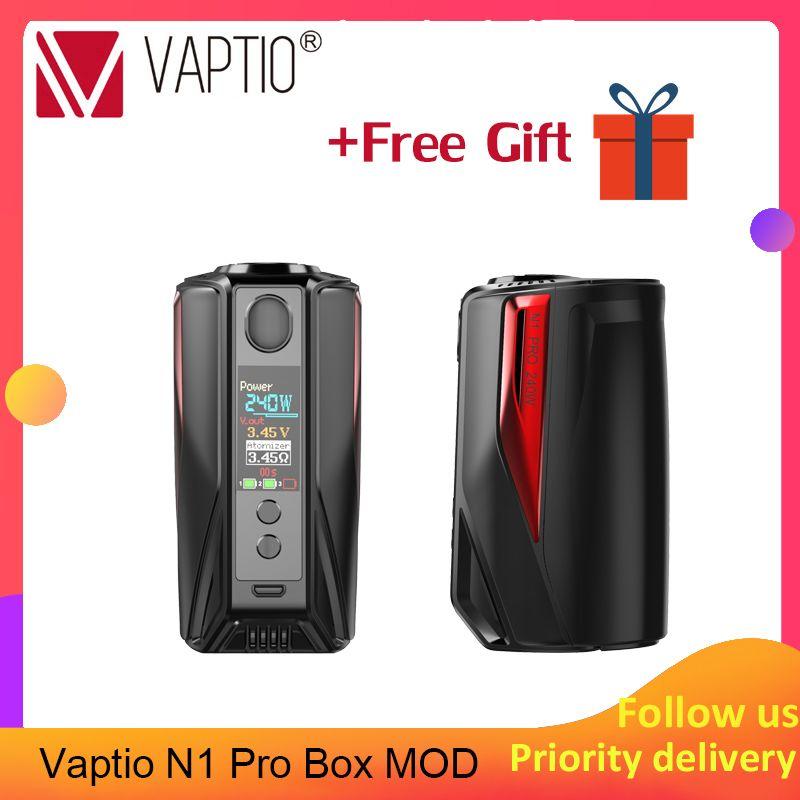 Vape mod Vaptio N1 Pro Box MOD 240 W n1 Cigarette électronique Vaping s'adapte à la double batterie 18650 pour kit de vape atomiseur 510 fils