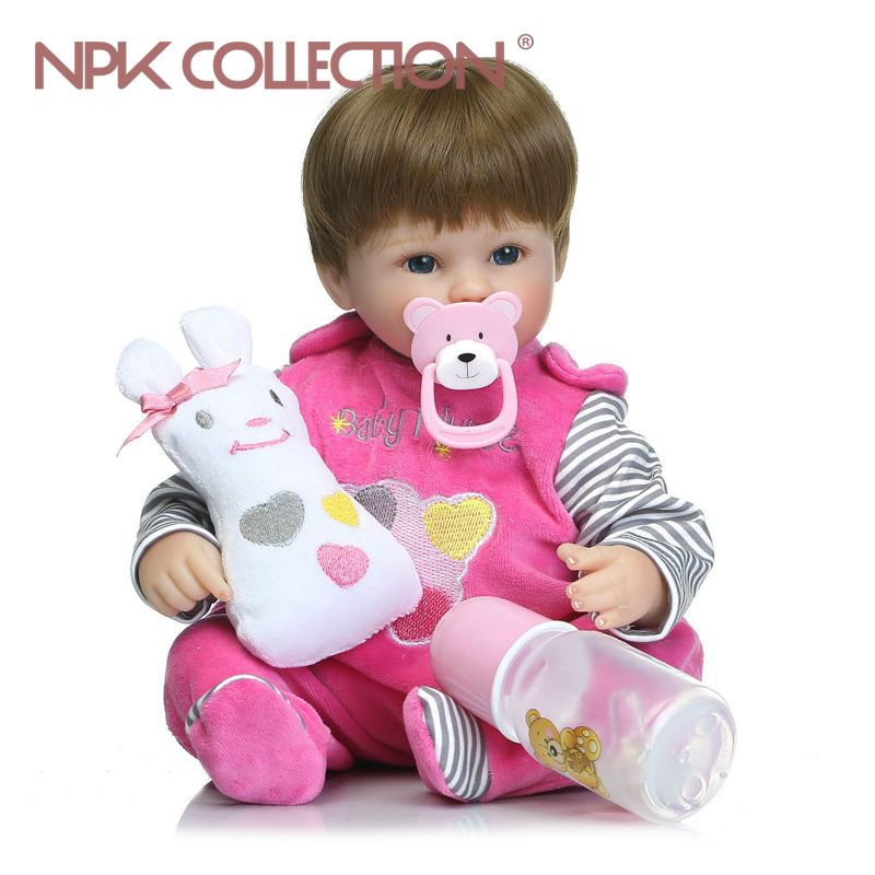NPKCOLLECTION bebe reborn dolls silicone reborn baby realistic babies boneca Gift for girls bed time early education toy Bonecas
