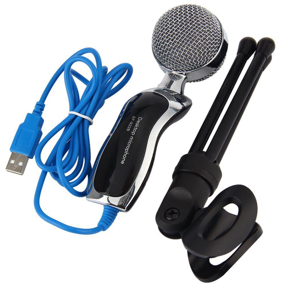 TGETH SF-922B USB Microphone À Condensateur Bavarder Audio Mic Avec Shock Mount pour Ordinateur Portable Karaoké