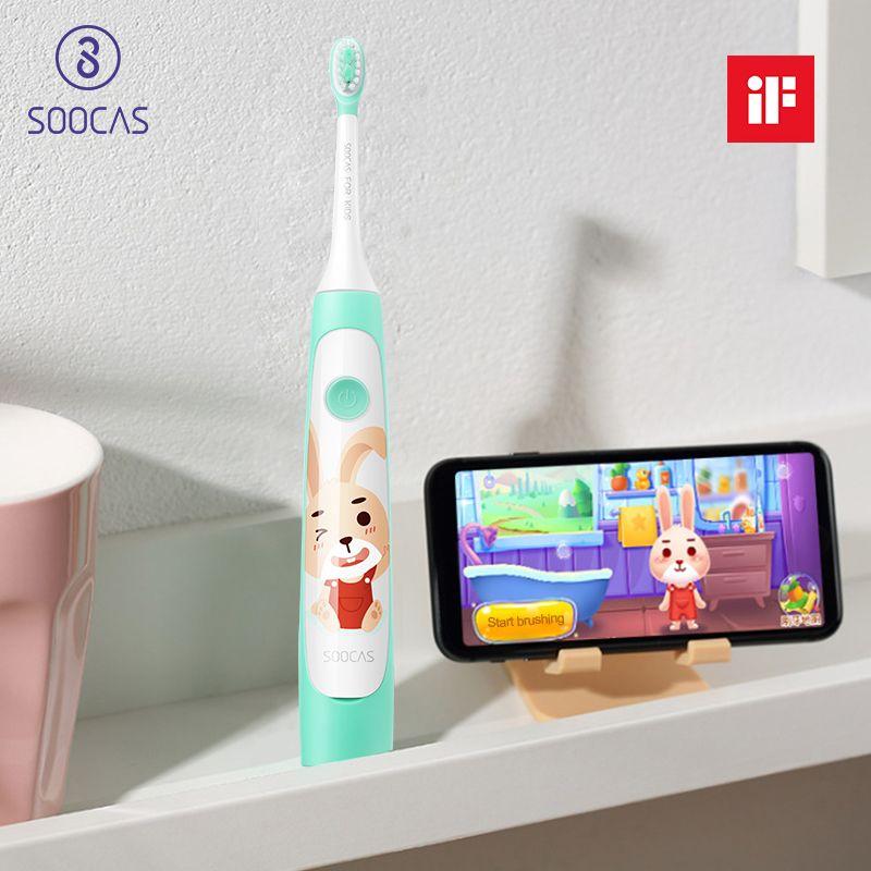 Soocas C1 APP USB sans fil de charge enfants électrique brosse à dents enfant brosse à dents sonique brosse à dents à ultrasons soocare C1 Xiaomi