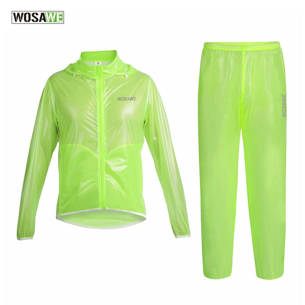 WOSAWE Radfahren Regen Jacken Mit Kapuze TPU Ultraleichtwasserdicht Fahrrad Regenmantel Sportanzug Wind Mantel Kleidung