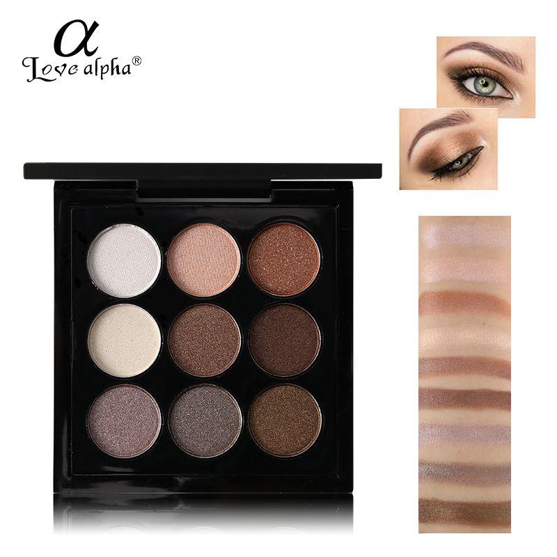 Marca 9 Colores de Sombra de Ojos Maquillaje Palete Nueva Tierra Color Glitter Moda Profesional A Prueba de agua de Larga Duración Sombra de Ojos Cosméticos