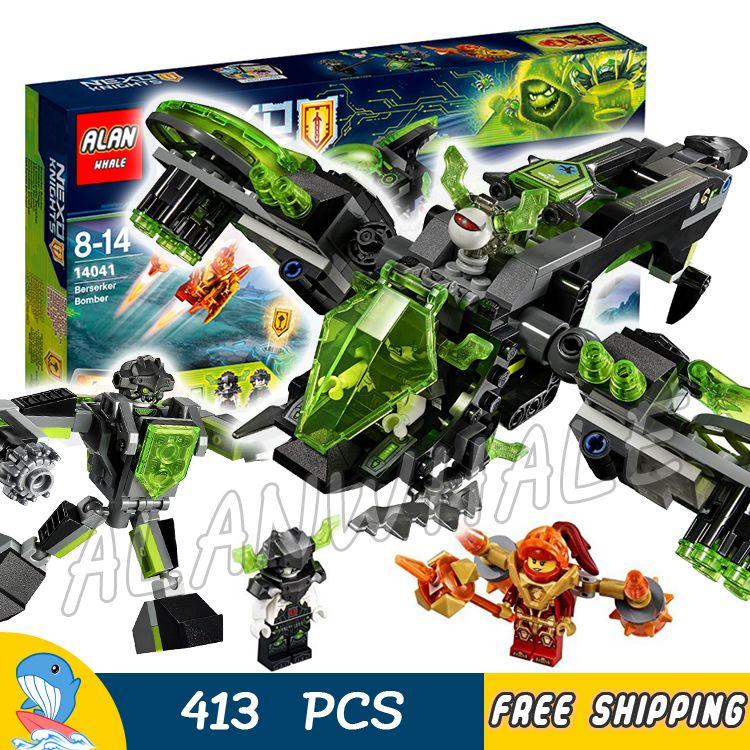 413 stücke Ritter Berserker Bomber Kämpfer Vero Anzug Mech 14041 Modell Bausteine Jungen Spielzeug Ziegel Nexus Kompatibel Mit Lego