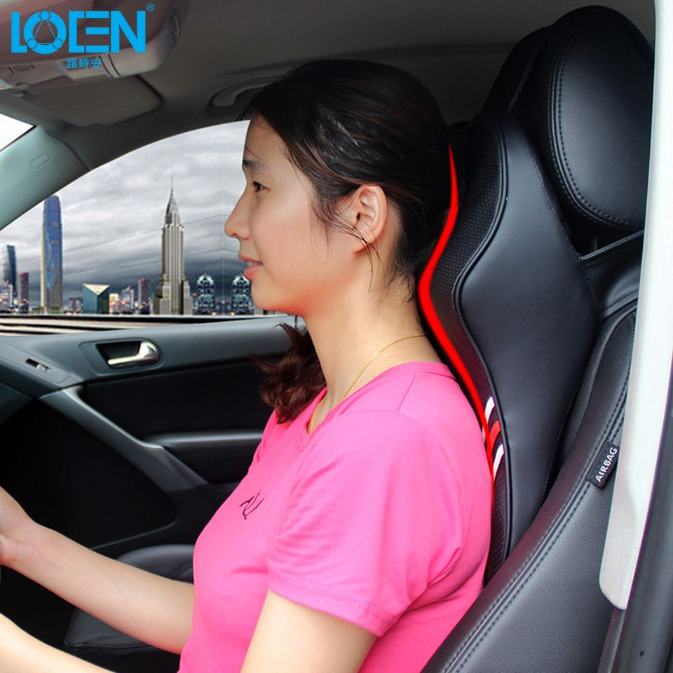 LOEN Hot Sell 3D Memory Foam Car Headrest Pillow Neck Support Pillow Car Seat Pillow Relieve Fatigue Breathable Removable Cover