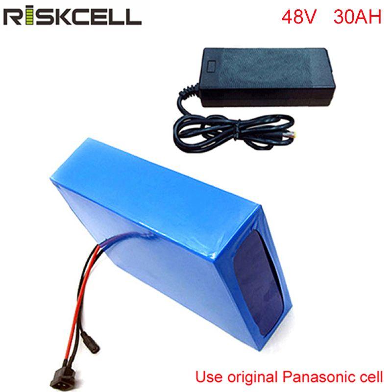 DIY 48 volt 2000 w fahrrad batterie 48 v 30ah lithium-batterie pack mit schnelle ladegerät und 50A BMS Für panasonic zelle