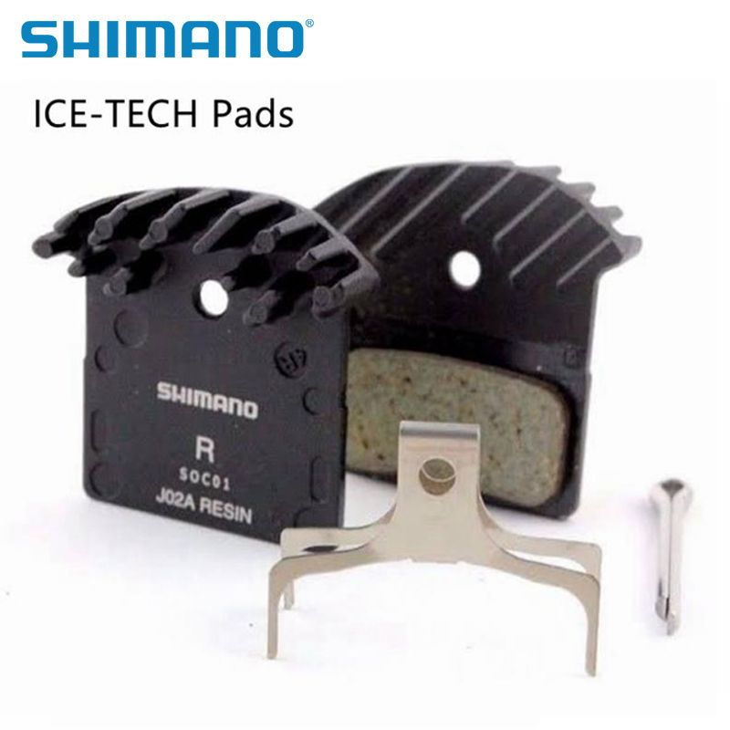 SHIMANO ICE-TECH J02A RESIN Brake Pads With Cooling Fins Fit With Deore M615/M6000/SLX M675/M7000/XT M785/M8000/M9000/M9020