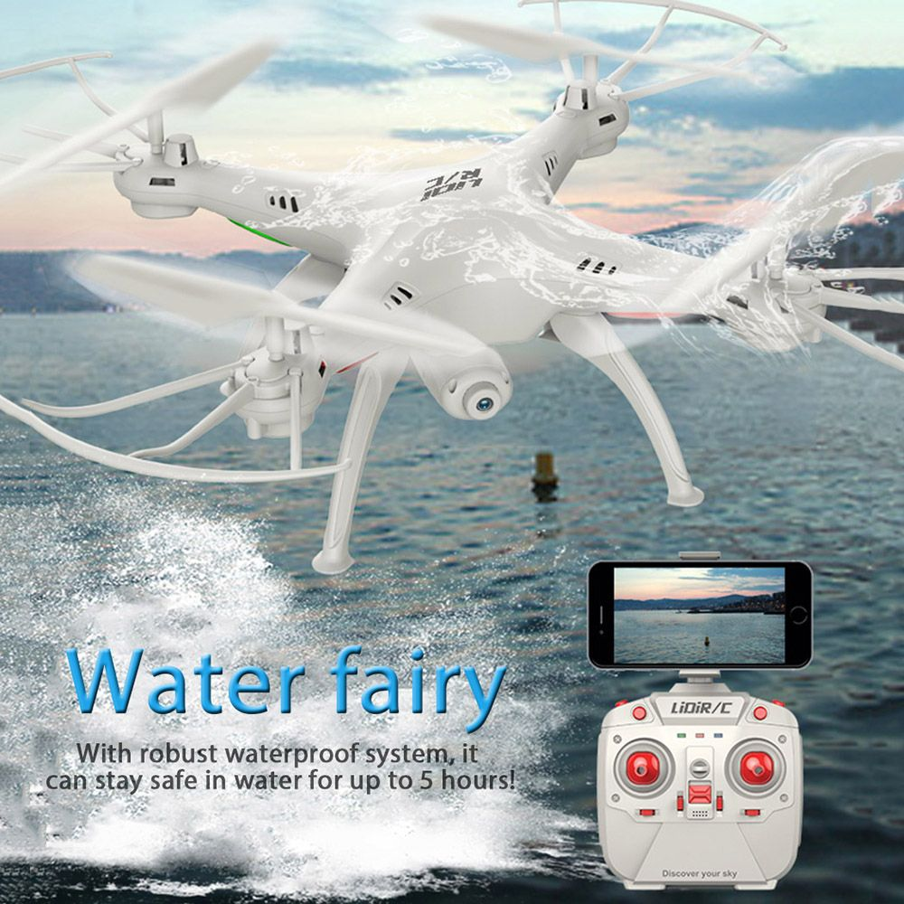 RC Drone With WiFi FPV HD Camera LiDiRC L15FW Quadcopter 2.4GHz 4CH 6 <font><b>Axis</b></font> Gyro Waterproof Headless Mode Helicopter VS JJRC H37
