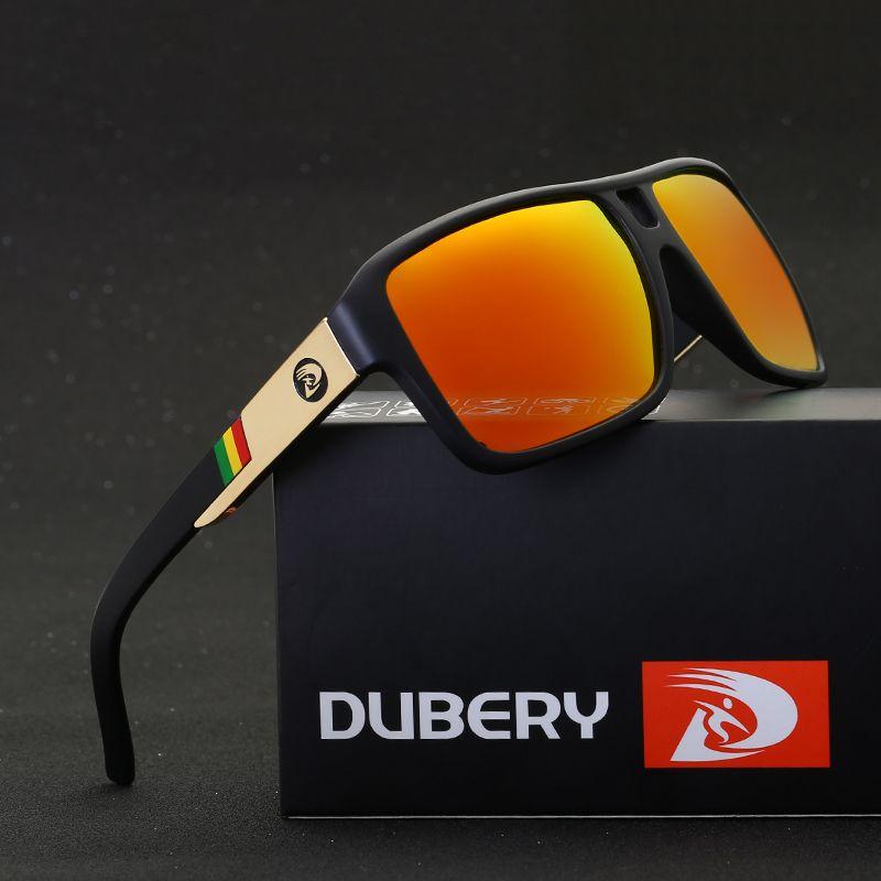 DUBERY 2018 Men's Polarized Dragon Sunglasses Driving Sun Glasses Men Women Sport Fishing Luxury Brand Designer Oculos