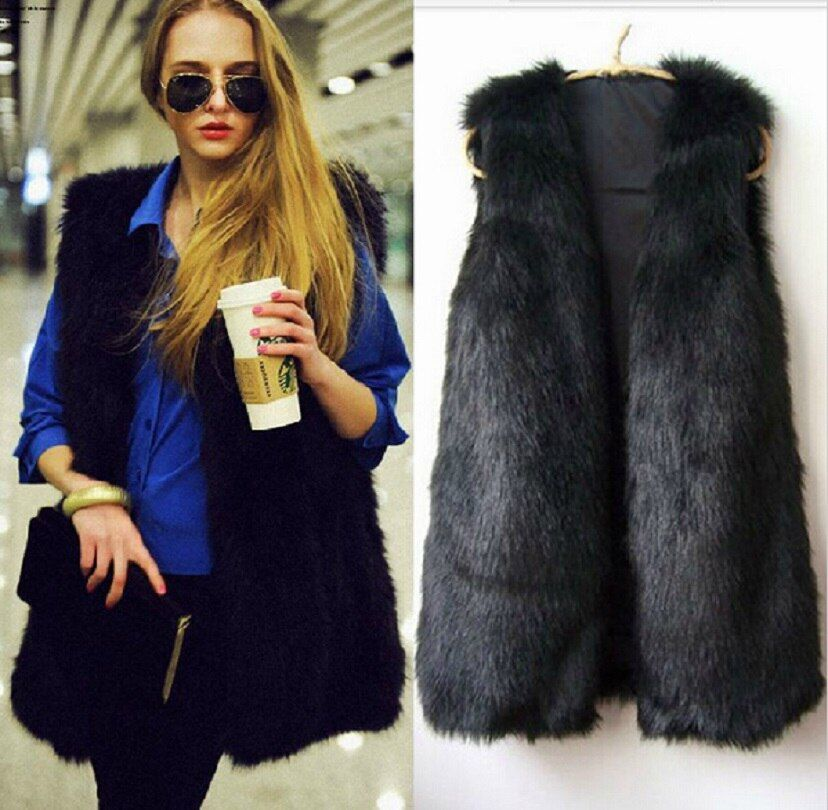 YONTREE High Quality Imitation Fur Women Vest Soft Winter Warm Outerwear Coat Sale Price