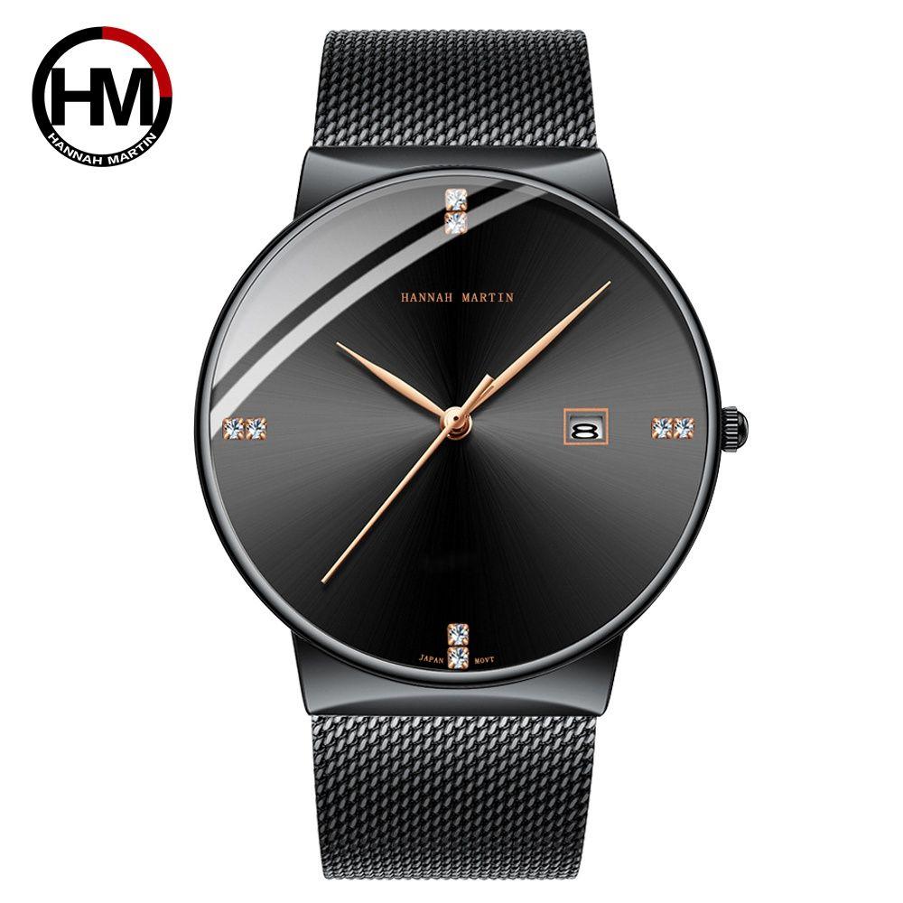 Men Watch Stainless Steel Classical Business Waterproof Top Brand luxury Quartz Movement Wristwatches Calendar relogio masculino