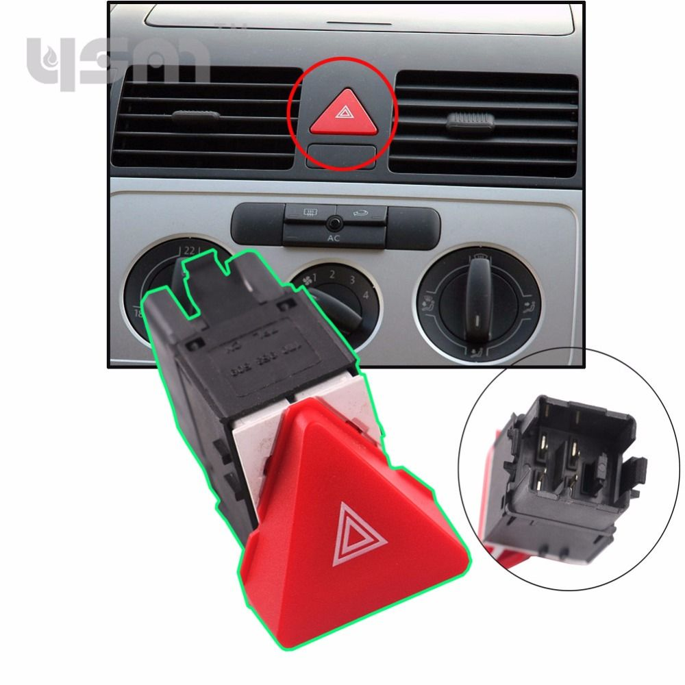 Hazard Warning Emergency Light Switch Button For VW 2003-2010 TOURAN CADDY 2004-2011 1T0953509 1T0 953 509 1K0 953 509