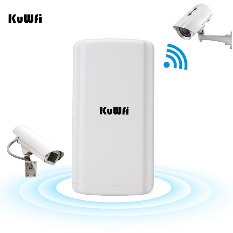 KuWFi Outdoor Wireless CPE Router Waterproof AP 300Mbps Wifi Router Extender Repeater Bridge with 11dBi Antenna WDS Function