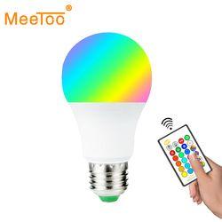 LED Lampe E27 RGB Led-lampe E27 15 W 10 W 5 W RGBW Dimmbare Ampulle LED Smart Lichter Für hause Urlaub Dekoration Mit Fernbedienung