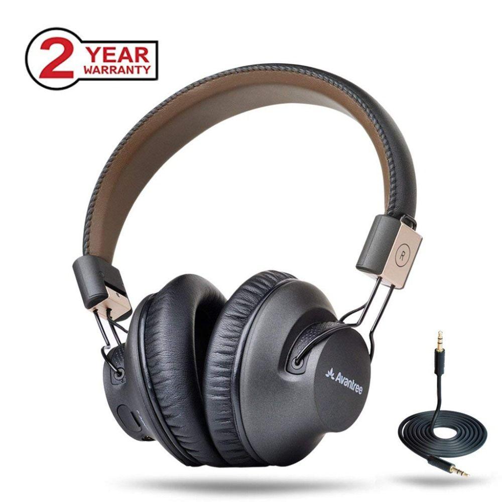 Avantree Sans Fil Bluetooth Sur L'oreille Casque avec Mic, FAIBLE LATENCE Rapide Audio aptX Casque pour les Jeux TV PC