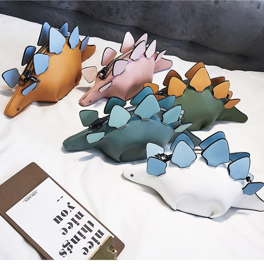 DUSUN Creative Chameleon Cartoon Handbags Flap 3D Funny Dinosaur Animal Messenger Bag Panelled Shoulder Crossbody Bags Girl Gift