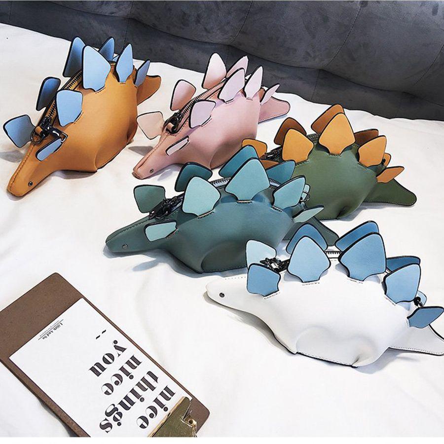 DUSUN Creative Chameleon de Bande Dessinée Sacs À Main Rabat 3D Drôle Dinosaure Animal Messenger Sac Lambrissés Épaule Bandoulière Sacs Fille Cadeau