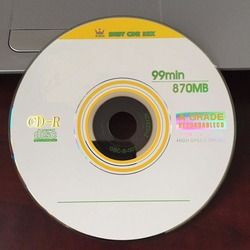 Wholesale 10 discs A+ Yellow Blank Printed 32x Blank 870 MB CD-R