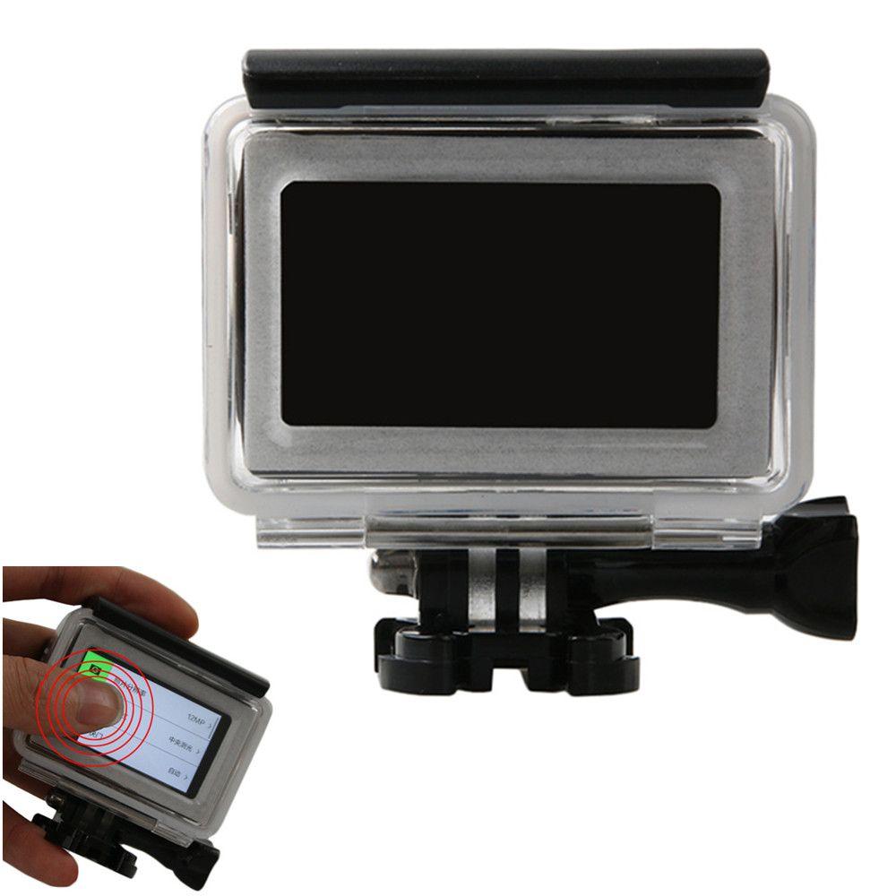 Étui étanche tactile pour Xiaomi Yi 4 k 45 m yi 4 k protecteur de caméra plongée boîtier tactile pour accessoires Xiaomi YI 2 II