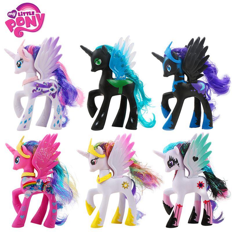 14 cm Hasbro Mon Petit Poney Jouets Amitié est Magique Pop Pinkie Pie Arc-En-Licorne Poney PVC Figurines Colletion modèle Poupées