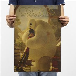 Big Hero 6 Baymax Vintage Kraft Paper Movie Poster Home School Office Wall Decoration  Art Magazines  Retro Posters and Prints