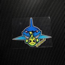 NO TL025 46 # Ikan Hiu Misano Valentino Rossi Adesivo Stiker Reflektif Decals Stiker Mobil Balap Motor auto ATV helm