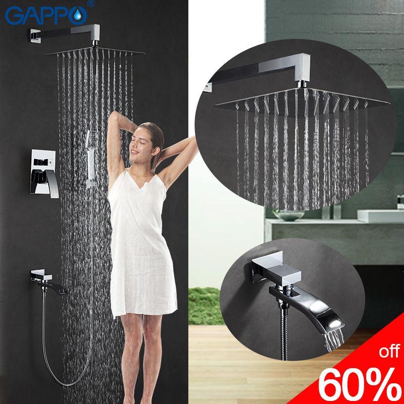 GAPPO badewanne wasserhahn bad brause mischer massage dusche köpfe wasserfall bad mischer dusche system armaturen set