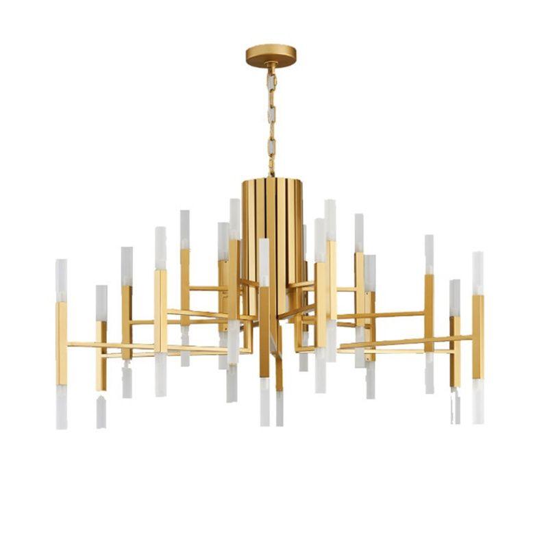 wongshi Modern Gold White Black Acrylic Iron Pendant Light Nordic Living Room Kitchen Designer Hanging Lamps