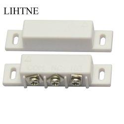 No/NC Kabel Pintu Magnetik Saklar Kontak Alarm Reed Switch Sensor Pintu untuk Rumah Sistem Alarm Sistem Akses Kontrol